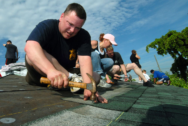 Asphalt Shingle Re-Roof Courtesy of U.S. Navy