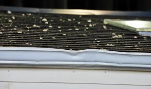 Hail On Asphalt Shingle Roof and Gutter Damage