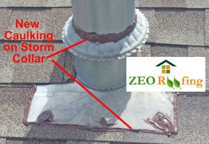 Roof Storm Collar Caulking 03 in Antioch, IL by ZEO Roofing