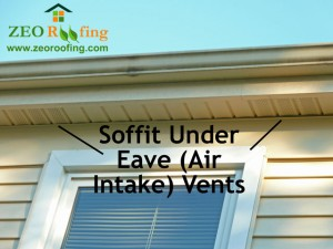 Roof Soffit Under Eave Air Intake Vents