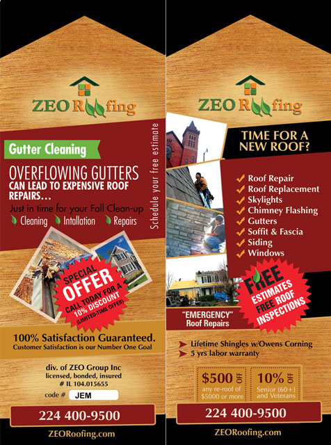 Fall Gutter Clean Up Special ZEO Roofing