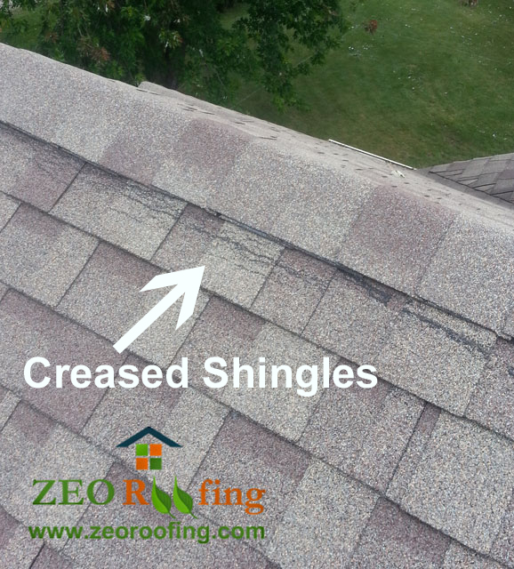 Damages Caused To Asphalt Roof Shingles From High Wind