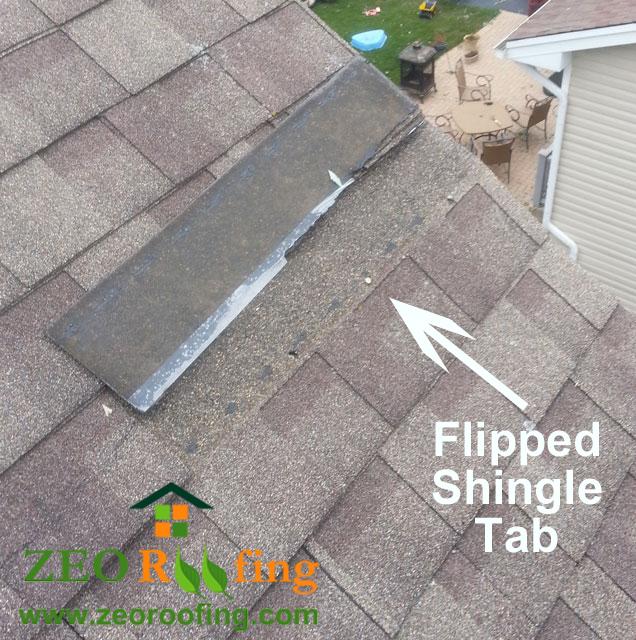 Flipped Asphalt Roof Shingles - Lincolnshire, IL