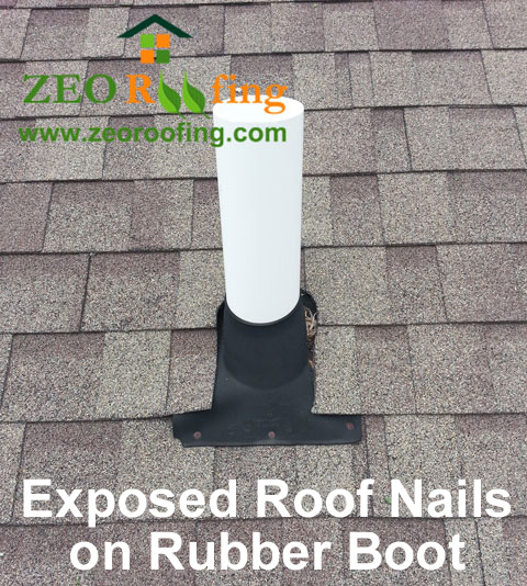 Exposed Nails on Rubber Roof Boot